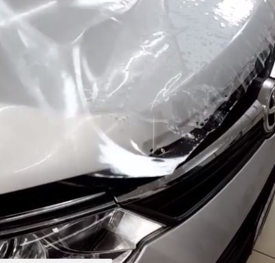 Фото оклейки авто защитной пленкой